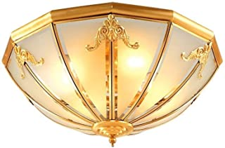 panel light كامل النحاس أدى مصباح السقف دراسة غرفة نوم فلوش جبل ضوء تركيبات الصمام جولة ضوء السقف تركيبات celing light