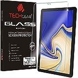 TECHGEAR Vidrio Compatible con Samsung Galaxy Tab S4 10.5 Pulgada (SM-T830 / SM-T835) - Auténtica Protector de Pantalla Vidro Templado