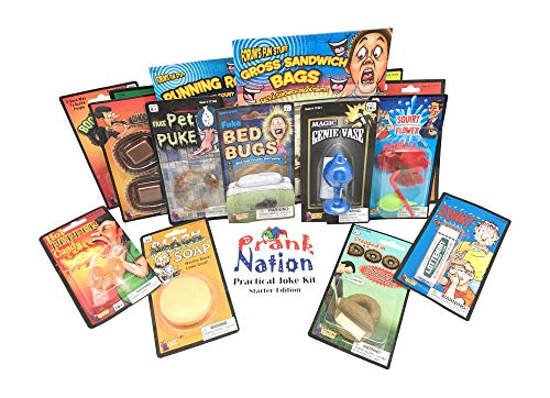 Practical Jokes Kit-Christmas Gifts for Kids-Pranks and Gags For Boys and Girls-Holiday Stocking Stuffers and Funny Gift Set Starter Pack