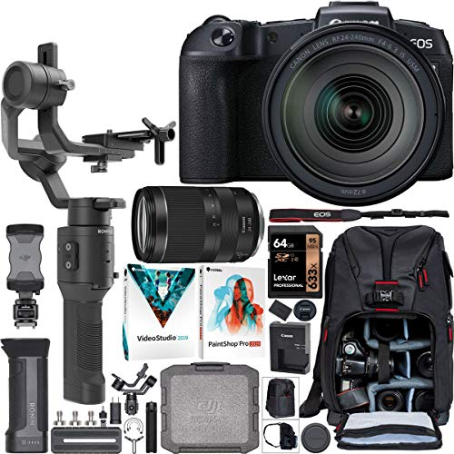 Find Discount Canon EOS RP Full-Frame Mirrorless Camera Filmmaker's Kit with RF 24-240mm F4-6.3 is U...