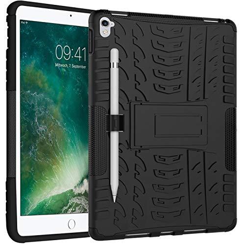 Verco Hülle für iPad Pro 9.7, Outdoor Schutzhülle Armor Tablet Case Cover [A1673 A1674 A1675], Schwarz
