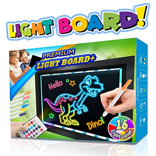 Amazloa Premium Light Board, Writing Drawing LCD Tracing pad Erasable Doodle Tablet Sketch