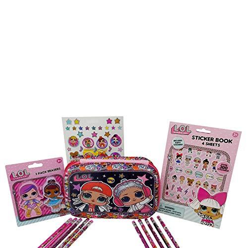 L.O.L. Surprise! School Supplies Including L.O.L. Surprise! Pencil Case Bundled with L.O.L. Surprise! Pencils, Erasers and Fun Stickers