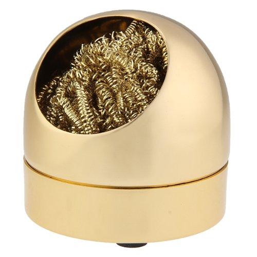 Lötzinn Abstreifer Lötspitzen Reiniger Metallschwamm Schwamm Goldfarbe...