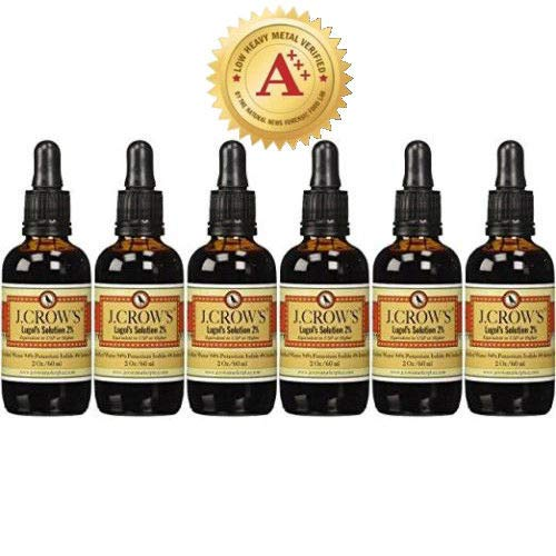 Price comparison product image J.CROW'S® Lugol's Solution of Iodine 2% 2 oz Six Pack (6 Bottles)
