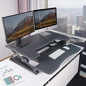 """Standing Desk, TaoTronics 36"""" Stand Up Desk Adjustable Desk Standing Desk Converter Sit Stand Desk Riser, Desktop Standup Desk Ergonomic Workstation"""
