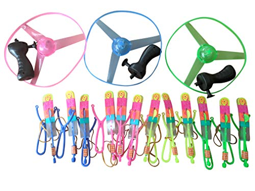 The Electric Mammoth Light Up Party Toy Combo  3 LED Flying Disc  12 LED Helicopter Arrows