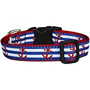 Up Country Anchors Aweigh Dog Collar - Medium