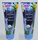 Bath and Body Works 2 Pack Moonlight Path Ultra Shea Body Cream 8 Oz.
