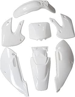 JCMOTO Plastic Fairing Kit | Complete Kawasaki Kx 65 KX65 Fender parts (White)
