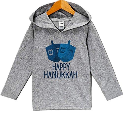 Custom Party Shop Baby's Happy Hanukkah Hoodie Grey 3T