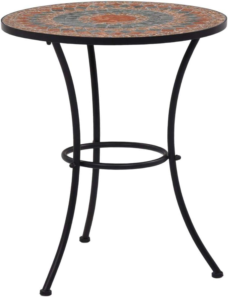 Mosaic Free shipping Bistro Table Orange Ceramic 23.6
