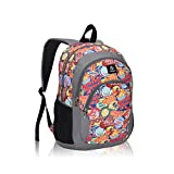 Veegul Cool Backpack Kids Sturdy Schoolbags Back to School Backpack for Boys Girls,Orange