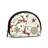 Monederos de Navidad de ciervos regalos bolsas para monedero de los niños, práctico bolso de efectivo portátil mini monedero para mujeres y niñas de 4.7 x 3.5 pulgadas