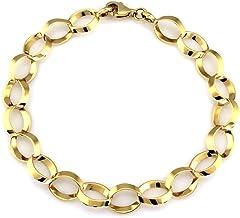 LOVRIN Gouden armband met verbonden ringen
