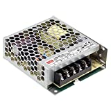 Mean Well LRS-50-5 Switching Power Supply, Single Output, 5V, 10A, 50W, 3.9' L x 3.23' W x 1.18' H