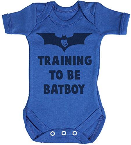 Training to Be Bat Boy Body bébé - Gilet bébé - Body bébé Ensemble-Cadeau - Naissance Bleu