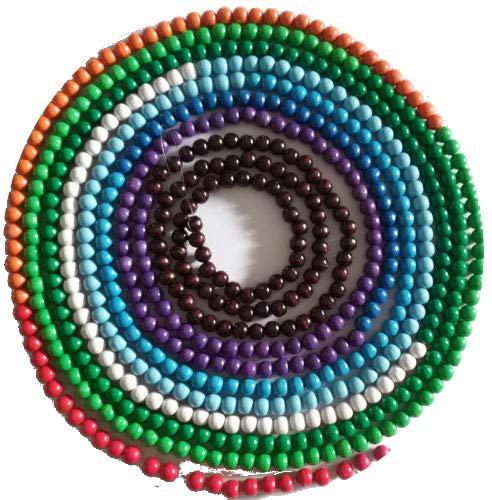 Green Future Pflanzenhandel Erdzeitalterkette Erdzeitkette Montessori Material Jahreskette Perlenmaterial
