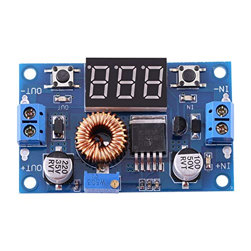 Yosoo Módulo de Potencia Ajustable DC-DC Buck Converter 5A 4.0V ~ 38V a 1.25V ~ 36V Regulador de Voltaje Reductor para convertidor Buck de Controlador de LED de Alta Potencia