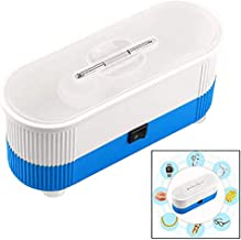 Ultrasonic Cleaner,Mini Cordless Ultrasonic Jewelry Cleaner Machine for Cleaning Eyeglasses, Watches, Rings, Necklaces, Coins, Razors, Dentures, Combs, Tools, Parts, Instruments,Blue