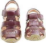 Gaatpot Unisex Niños Sandalias con Punta Cerrada Niña Niño Zapatos Sandalias de Vestir en Cuero Zapatillas Verano Marrón 26 EU/26 CN