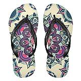 Linomo Chanclas de dedo para hombre y mujer, estilo étnico, con diseño de mandala, para verano, para la playa, color Multicolor, talla 40/41 EU