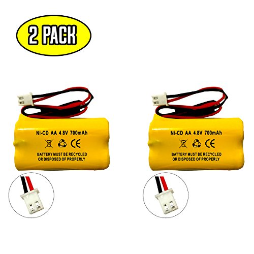 4.8v 650mAh 800mAh Lithonia D-AA650BX4 BYD D-AA650BX4 DAYBRIGHT D-AA650BX4SQ Interstate NIC1117 All Fit E1021R EJW-NICAD NIC0991 Dantona Custom 145-10 Exit Sign Emergency Light Battery Replacement