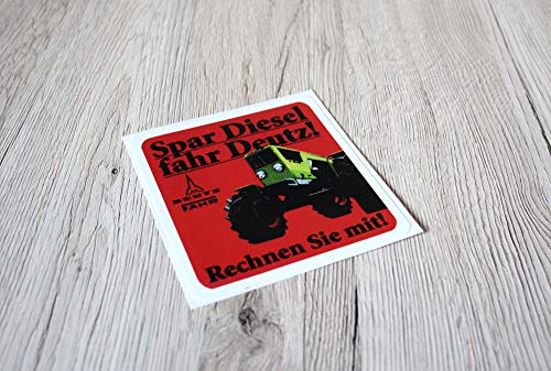 DEUTZ FAHR Spar Diesel Fahr DEUTZ Aufkleber 06 Baureihe Logo Emblem Sticker Label Traktor