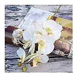 HETHYAN Floreros artificiales de plástico para decoración del hogar, decoración de boda, caja de flores decorativas (color: blanco leche).