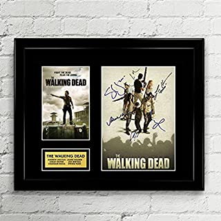 The Walking Dead Signed Autographed Photo Mat Custom Framed 11 x 14 Replica Reprint Rp