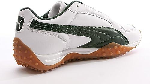 PUMA Temo Leather Men's White Riffle Green Sneaker: Amazon.co.uk ...