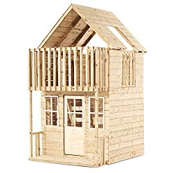 This beautiful TP Loft Wooden Playhouse is 2 storey playhouse with a cosy downstairs play room and a Children will absolutely love this large wooden playhouse and spend endless hours playing and making All other parts 1 year Primary material: FSC cer...