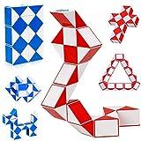 LOVEXIU Puzzle de Magia Serpiente,24 Bloques Juguetes de Rompecabezas de Snake 2Pcs,3D Magic Speed Cube Juego Twister,Cuñas Regla Mágica Puzzle Educativos Toys para Niños Fiestas Favores Llenadores