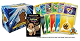 200 Assorted Pokemon Cards - 100 Common/Uncommons Plus 100 Energy Cards - Includes 1 Assorted Official Pokemon Deck Box and 1 Golden Groundhog Storage Box (Holds Upto 1000 Cards!)
