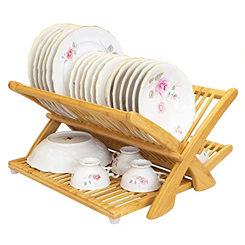 """Totally Bamboo """"Eco Collapsible Bamboo Dish Drying Rack"""