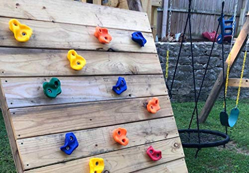 Colorful Children Rock Climbing Holds