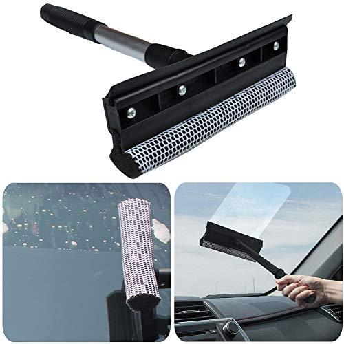 BESLIME Scheibenreiniger aus Teleskop, Auto Teleskop Fensterwischer Abzieher mit Schwamm Auto Reinigung Fensterputzer multifunktions Werkzeug