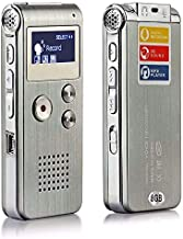 Accreate Electronic Accessories Voice Record Mini 8GB Digital Sound Audio Recorder Dictaphone MP3 Player Silver