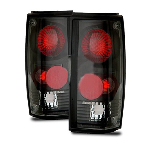 SPPC Black Euro Tail Lights Assembly Set for Chevrolet S-10 / G.M.C Sonoma - (Pair) Driver Left and Passenger Right Replacement
