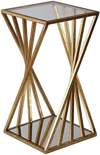 QTQZDD kleine salontafel, woonkamer sofa zijkant salontafel hoekbank sofa sideboard ijzeren kunst eenvoudige kleine vierkante tafel nachtkastje 333363 cm theetafel (grootte: 333363 cm) 1 1