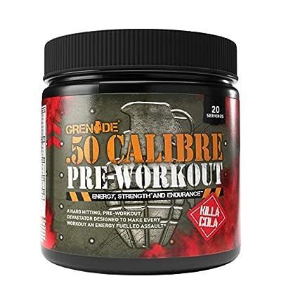 Grenade 50 Calibre Pre Workout Devastation - Killa Cola, 20 Servings