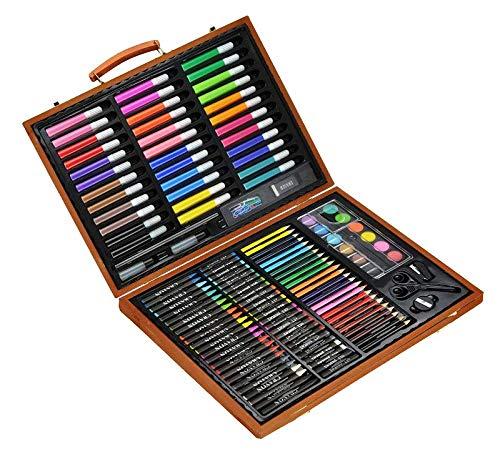 Juego de 150 colores en maletín de madera