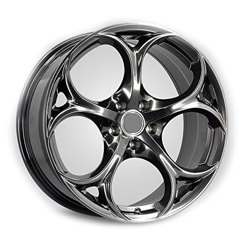 Alu Felgen 20 Zoll Durchfluss geschmiedete Radlegierung Ersatzrad Auto Rad Maschine Aluminium Felge Passend für R20*8.5J Reifen Geeignet für Golf Camry Atez cx-4 Civic Accord 1 Stück,E