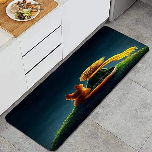 VINISATH Principito y el Zorro Alfombrillas de Cocina Antideslizantes Felpudo Lavable Juego de Alfombras de Microfibra