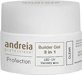 Andreia Professional Profection Builder Gel 3 en 1 - Construcción de uñas trifásica - Transparente 44g