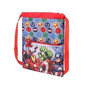 51sScfEiPVL. SS300  - Karactermania The Avengers Force-Strap Turnbeutel Bolsa de Cuerdas para el Gimnasio 41 Centimeters Multicolor (Multicolour)