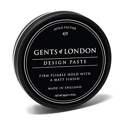 Gents of London Design Paste Mattes Haarwachs/Hair Wax für Fest Halt und Professionelle Haarstylings (50g)