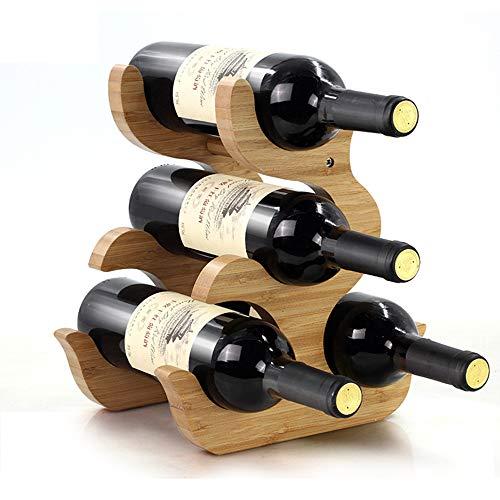 Aus Bambus-Holz FüR 4 Wein-Flaschen Weinflaschenhalter Weinkiste Flaschenregal,A