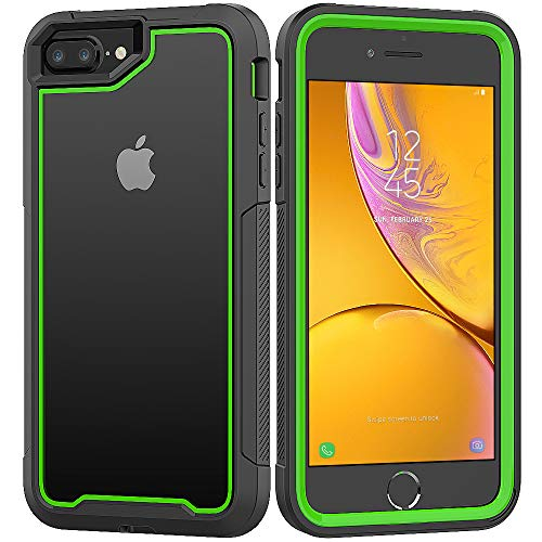 iPhone 8 Plus/iPhone 7 Plus/iPhone 6S Plus/iPhone 6 Plus Case, Yoomer Ultra Slim Shockproof Reinforced PC Frame Crystal Durable Flexible TPU Bumper Case for iPhone 8 Plus/7 Plus/6S Plus/6 Plus 5.5'