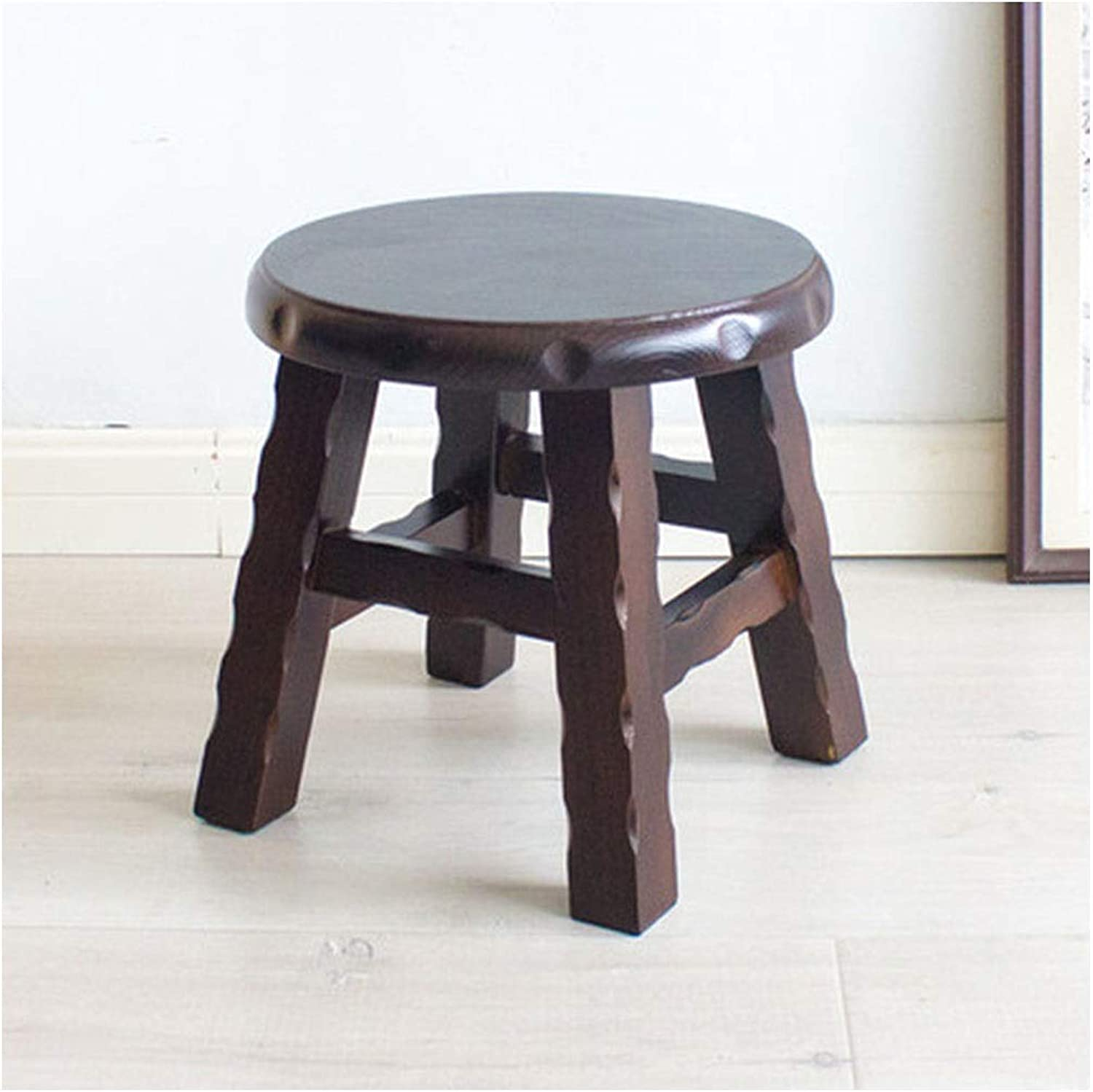 Stools- Wooden Bench- Round Stool Coffee Table Stool Bench Low Stool Living Room shoes Bench Small Wooden Bench HATHOR-23 (color   B)